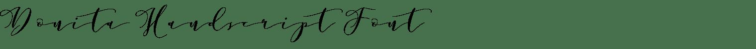 Donita Handscript Font