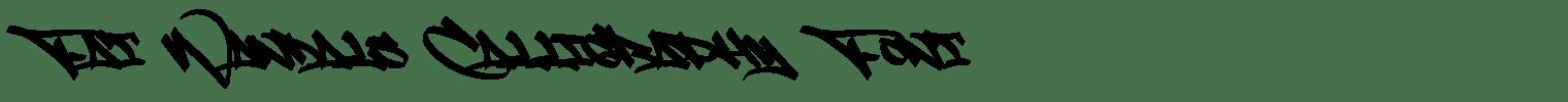 Fat Wandals Calligraphy Font