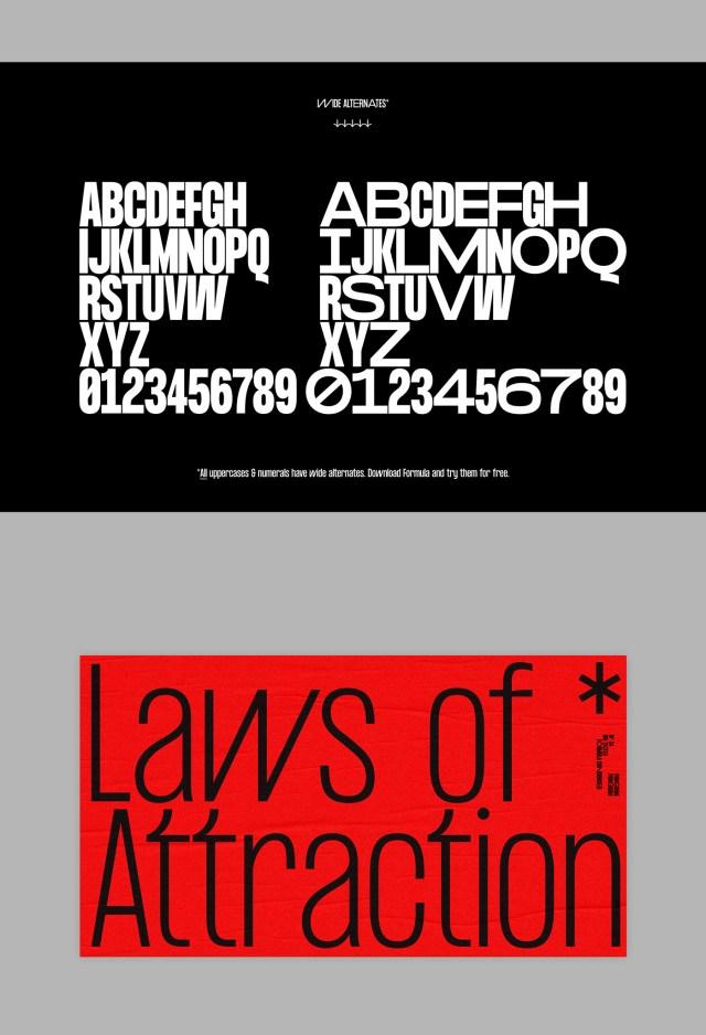 Formula Consensed Typeface