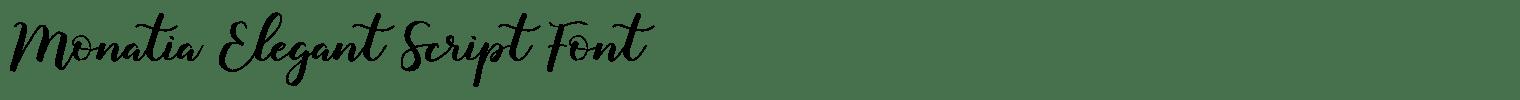 Monatia Elegant Script Font