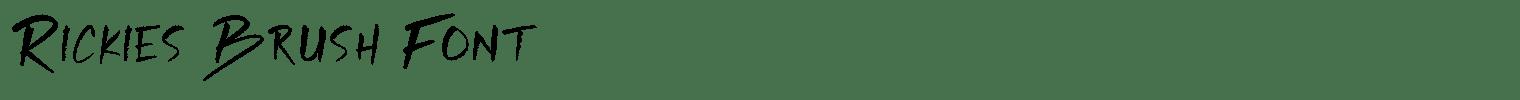 Rickies Brush Font