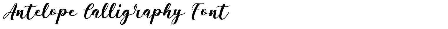 Antelope Calligraphy Font