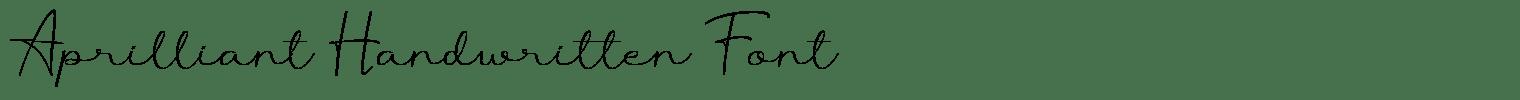 Aprilliant Handwritten Font