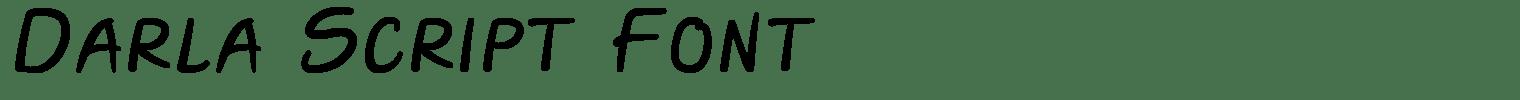 Darla Script Font