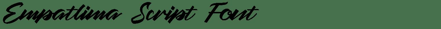 Empatlima Script Font