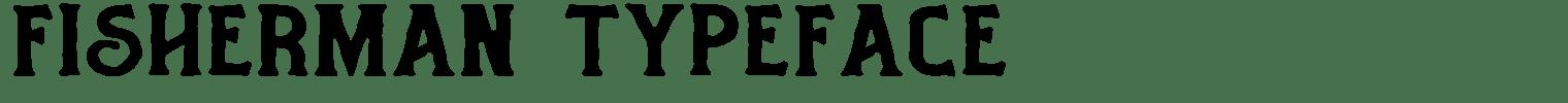 Fisherman Typeface