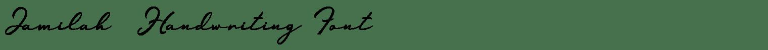 Jamilah  Handwriting Font
