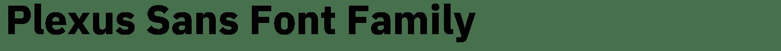 Plexus Sans Font Family