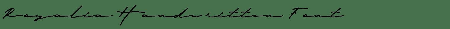 Royalia Handwritten Font