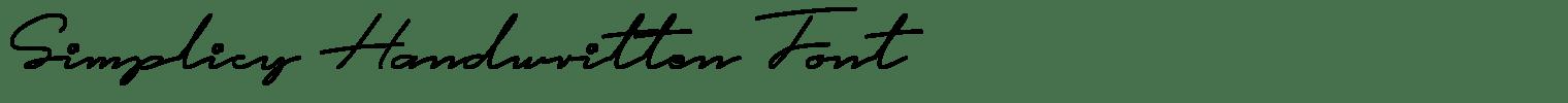 Simplicy Handwritten Font
