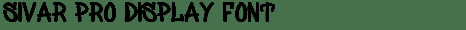 Sivar Pro Display Font