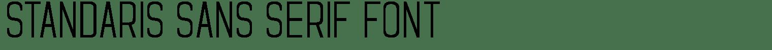 Standaris Sans Serif Font