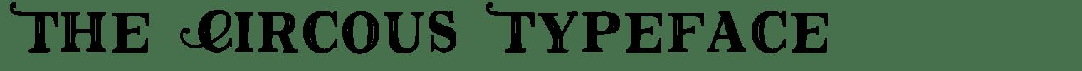 The Circous Typeface