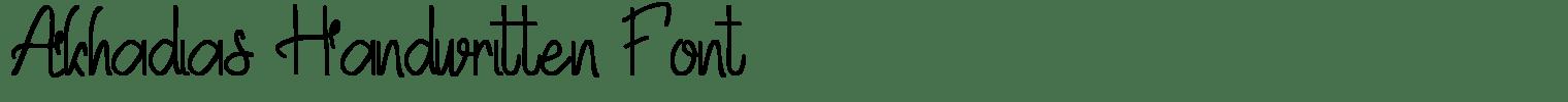 Akhadias Handwritten Font