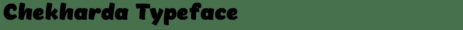 Chekharda Typeface
