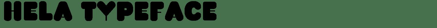 Hela Typeface