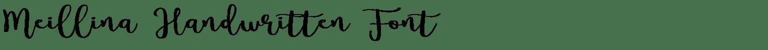 Meillina Handwritten Font