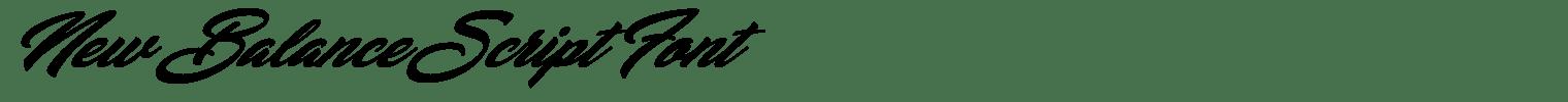 New Balance Script Font