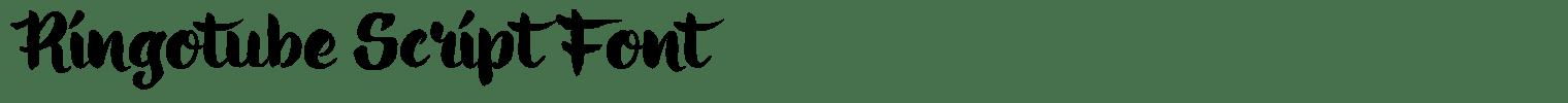 Ringotube Script Font