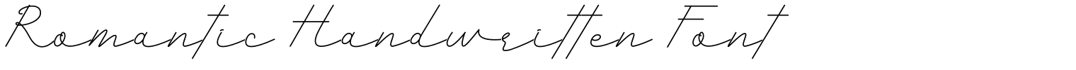 Romantic Handwritten Font