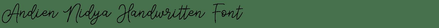 Andien Nidya Handwritten Font