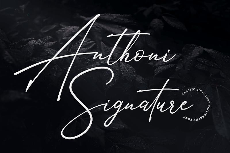 Download Anthoni Signature Font - Fontlot.com