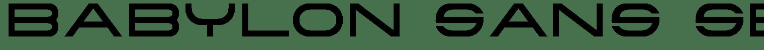 Babylon Sans Serif Font