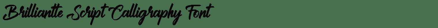 Brilliantte Script Calligraphy Font