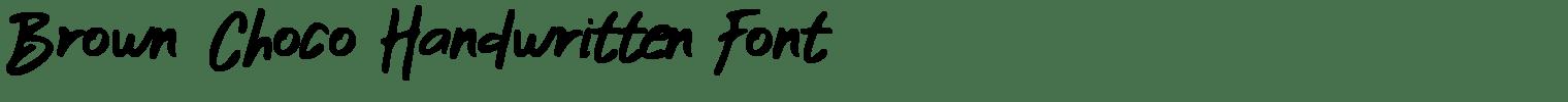 Brown Choco Handwritten Font