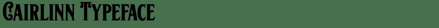 Cairlinn Typeface