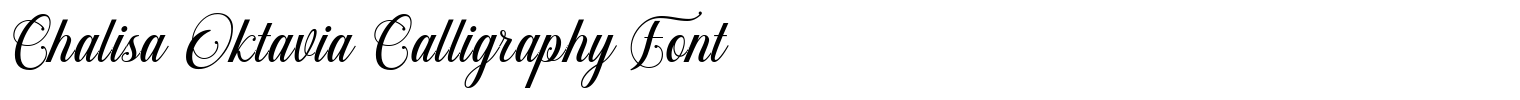 Chalisa Oktavia Calligraphy Font