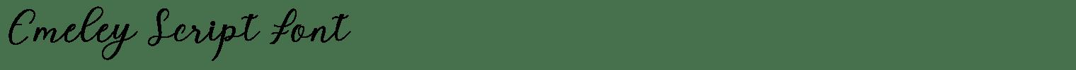 Emeley Script Font