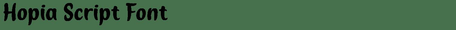 Hopia Script Font