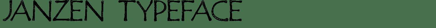 Janzen Typeface