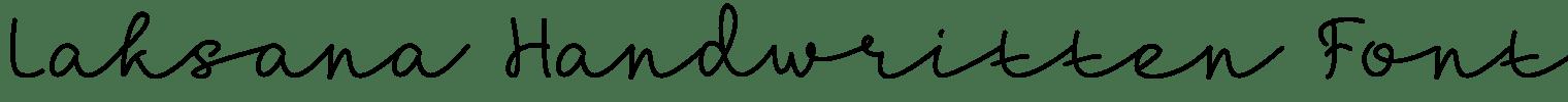 Laksana Handwritten Font