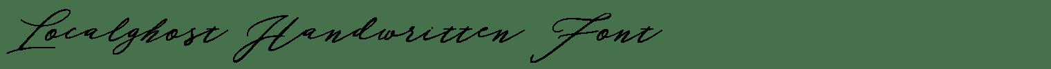 Localghost Handwritten Font