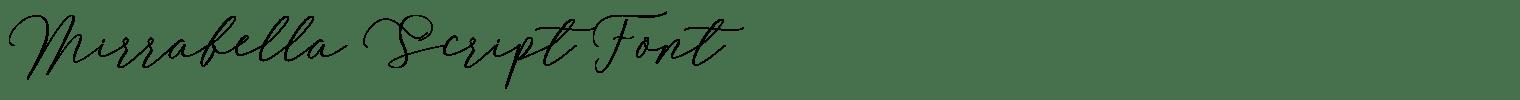 Mirrabella Script Font