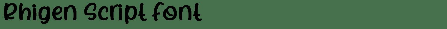 Rhigen Script Font