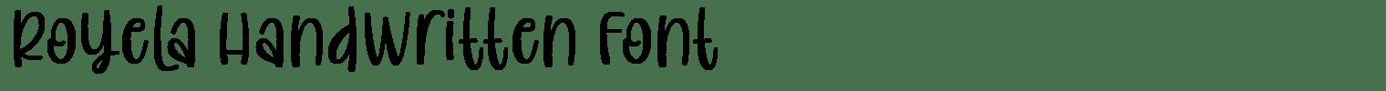 Royela Handwritten Font