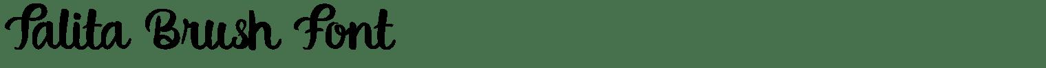 Talita Brush Font
