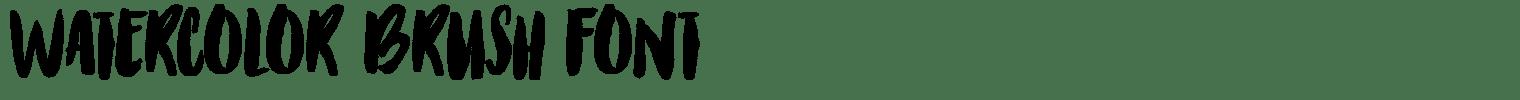 Watercolor Brush Font