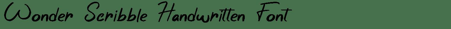 Wonder Scribble Handwritten Font