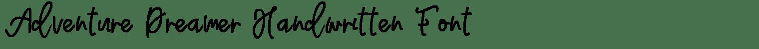 Adventure Dreamer Handwritten Font