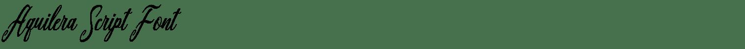 Aquilera Script Font