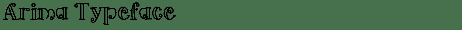 Arima Typeface