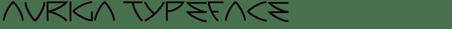 Auriga Typeface