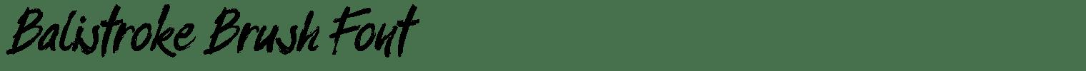 Balistroke Brush Font
