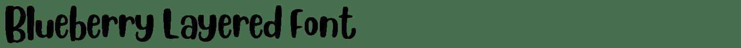 Blueberry Layered Font