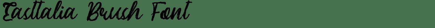 Easttalia Brush Font