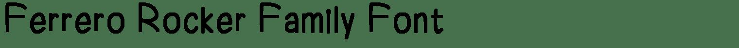 Ferrero Rocker Family Font